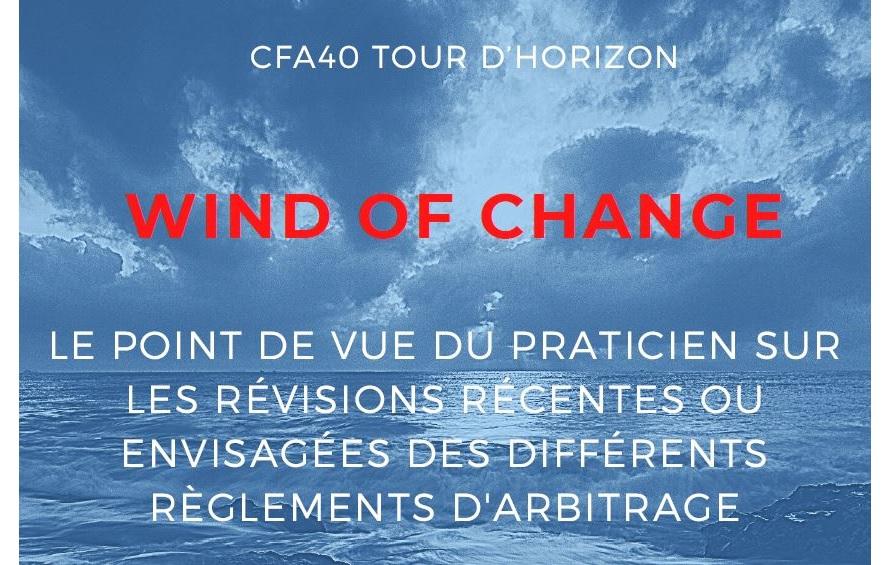 Wind of change : les révisions des différents règlements d'arbitrage