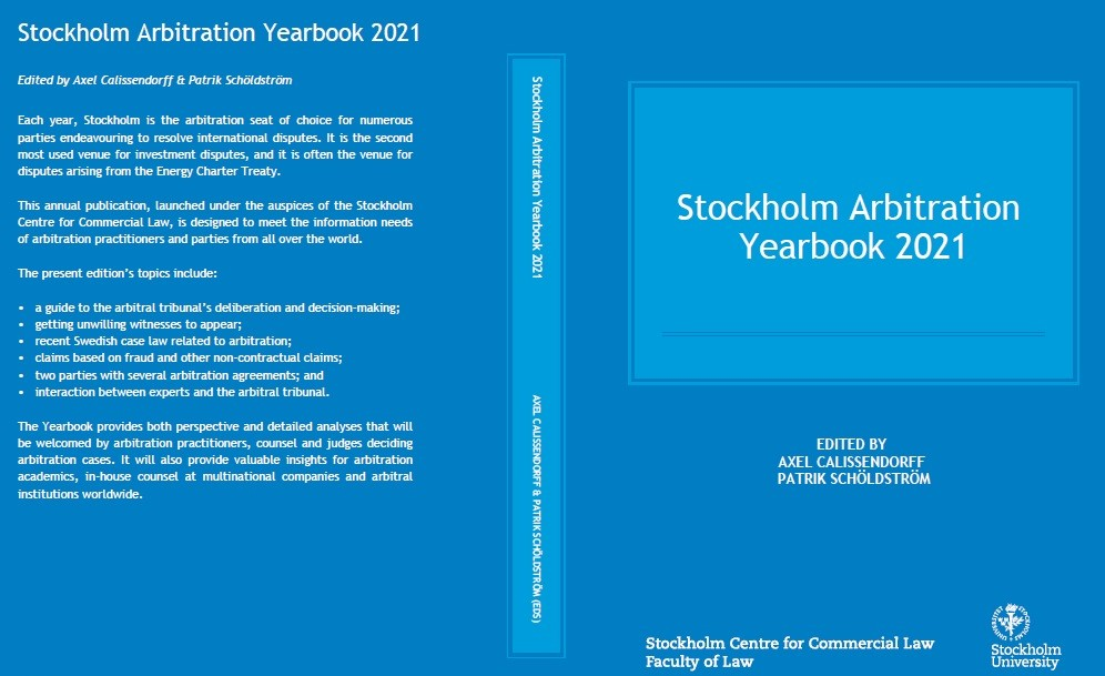 Georges Affaki contributes to the Stockholm Arbitration Yearbook